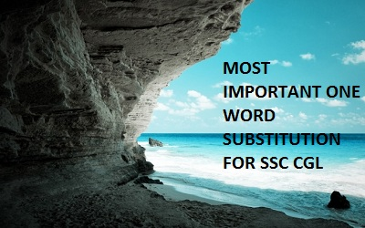 ONE WORD SUBSTITUTION FOR SSC CGL