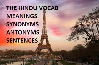 THE HINDU VOCAB FOR SSC AND BANK EXAMS